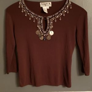 Pre-owned 3/4 sleeve summer sweater top